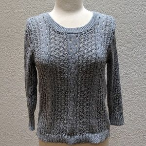 Rachel Roy steel blue/gray knit sweater w/ zipper!
